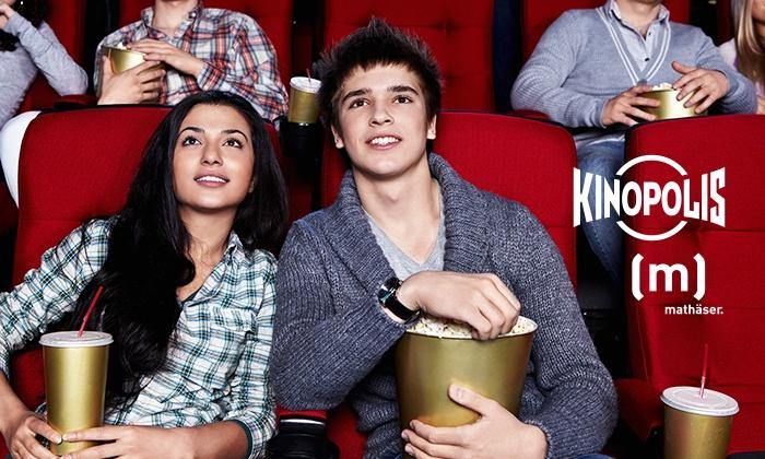 Kinopolis/Groupon: 6x Eintritt ins Kino und kleines Popcorn je nur 5 EUR