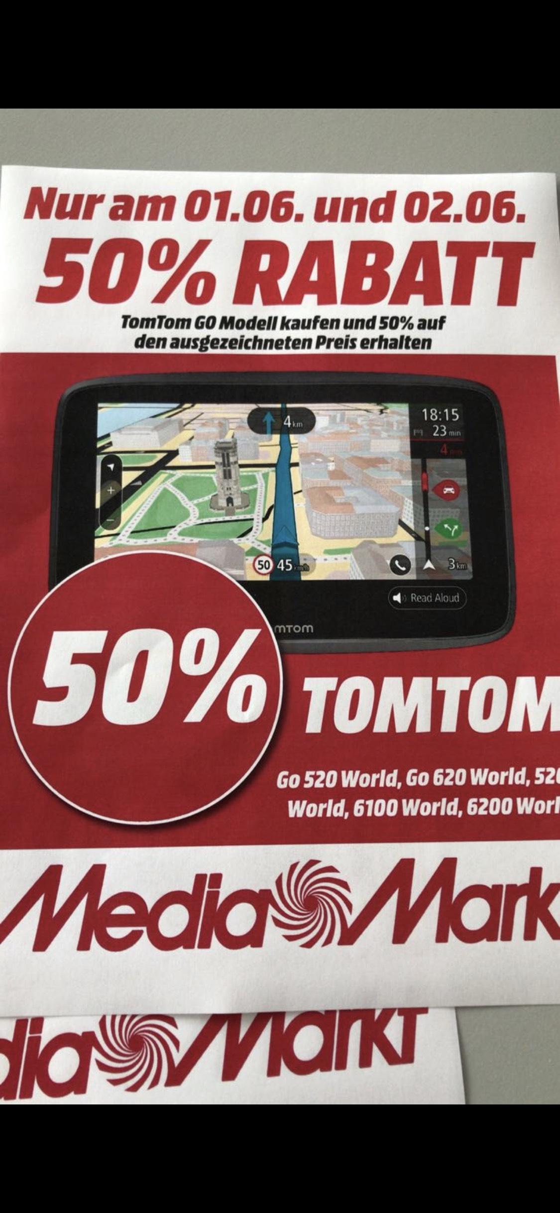(Lokal Mainz) 50% auf alle TomTom Go Modelle