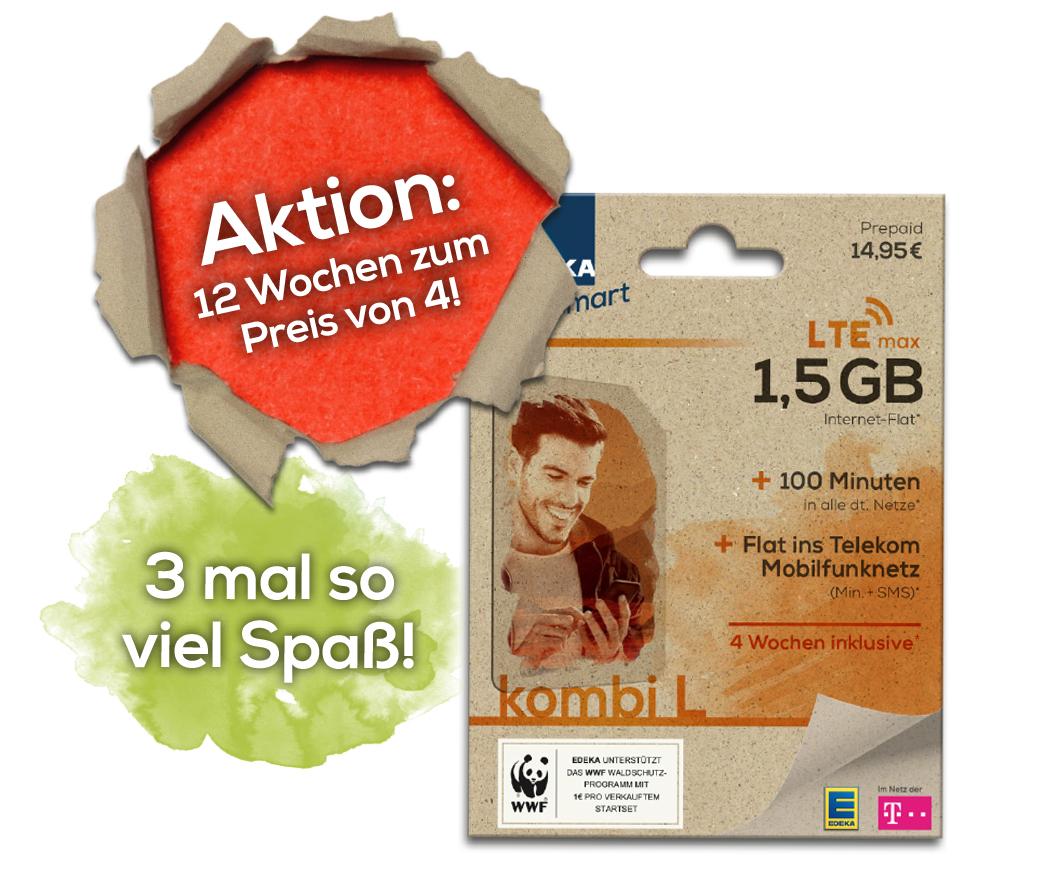 EDEKA smart kombi L - 12 Wochen zum Preis von 4