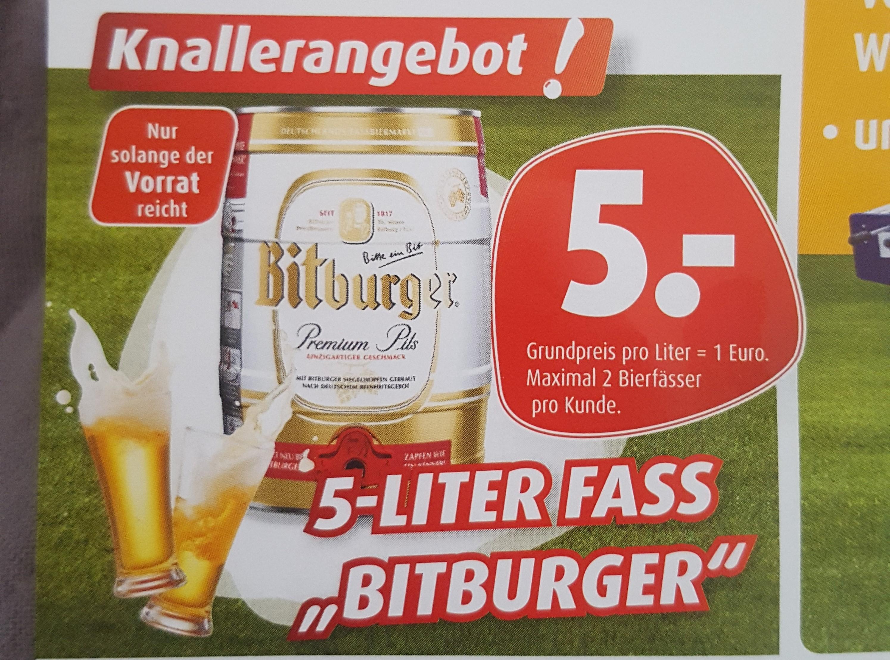 [Porta Hannover] 5-Liter Fass Bitburger (Bundesweit?)