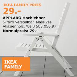 [IKEA Köln Am Butzweilerhof] ÄPPLARÖ Hochlehner in weiß
