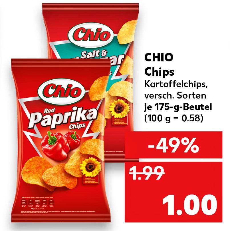 Chio Chips 175g für nur 1,00 € (Kaufland)