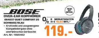 [Regional Saturn Troisdorf-Sonntagsangebot] Bose QuietComfort 25 Acoustic Noise Cancelling Kopfhörer (geeignet für Apple-Geräte) schwarz für 119,-€