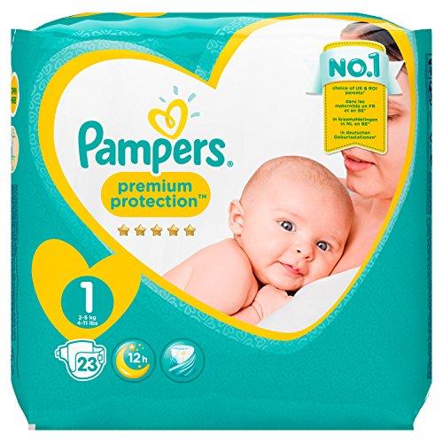 Pampers Premium Protection New Baby Gr.1 Newborn 2-5kg Tragepack, 4er Pack (4 x 23 Stück) spar Abo 20%