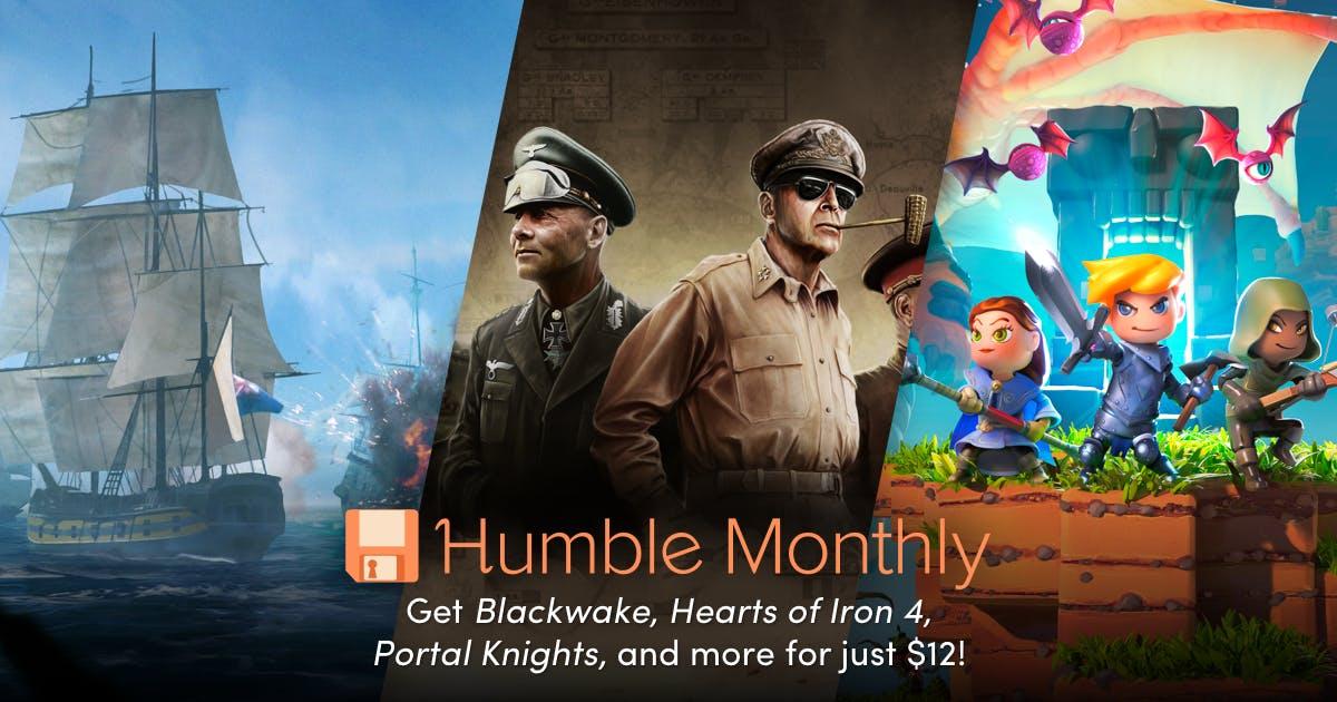 [Humble Monthly] Hearts of Iron IV, Blackwake und Portal Knights als Early Unlock für das Humble Monthly Juli 2018