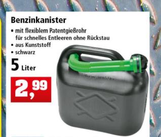 5 Liter Benzinkanister für 2,99 Euro [Thomas Philipps]