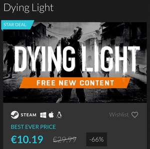 (PC) Dying Light Steam Key 48h Star Deal