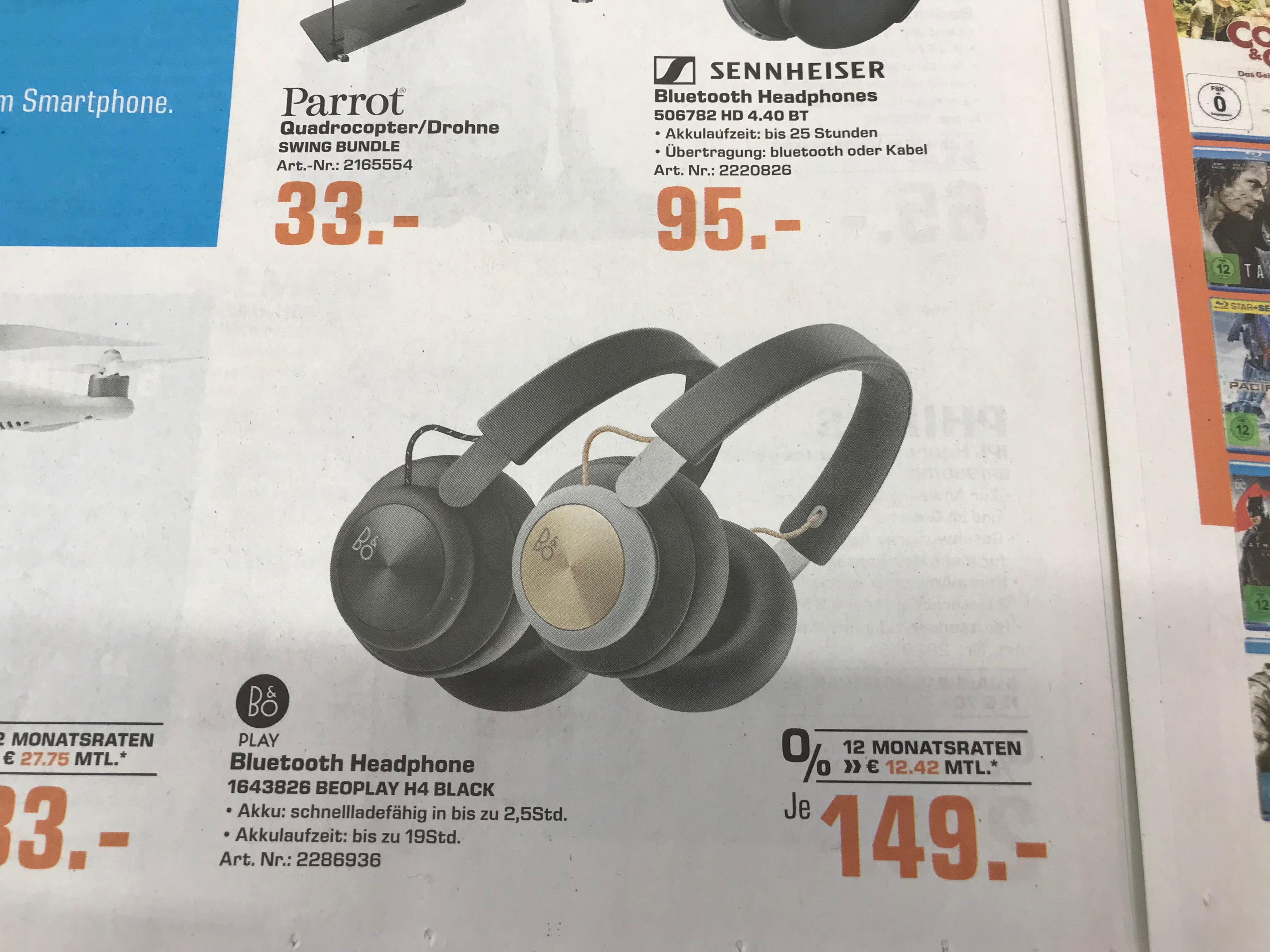 B&O H4 Bluetooth Kopfhörer + Powerbank Xtorm Discover 15000mAh Saturn Bochum City