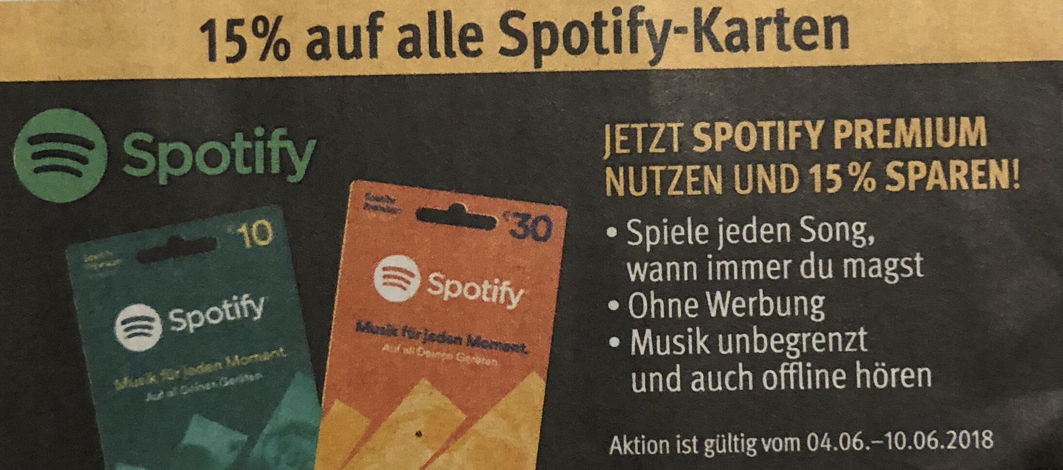 [Rossmann] ab Mo.: 15% auf alle Spotify-Karten