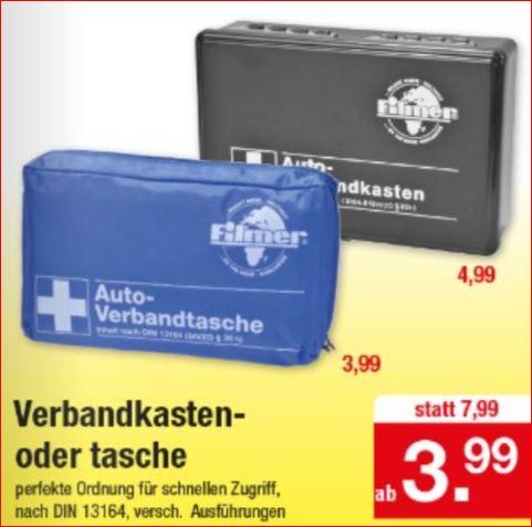 Verbandtasche für 3,99 Euro / 4,99 Euro, Warnwesten für 1,29 Euro [Zimmermann]