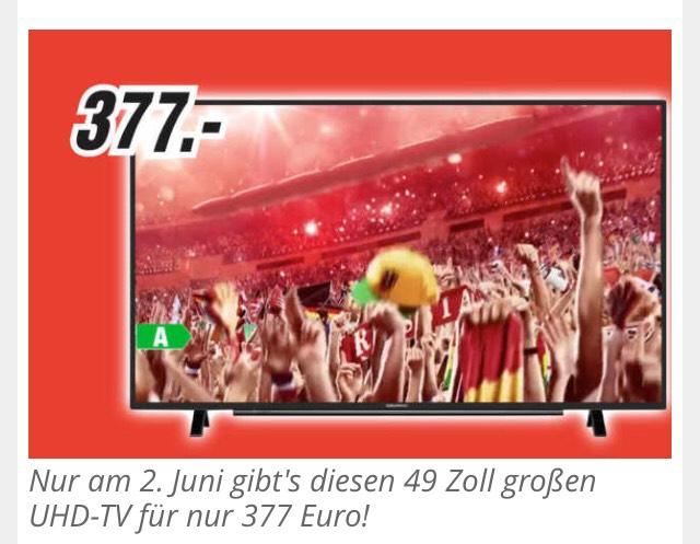 Grundig 49 GUB 8762 LED TV 122€ günstiger