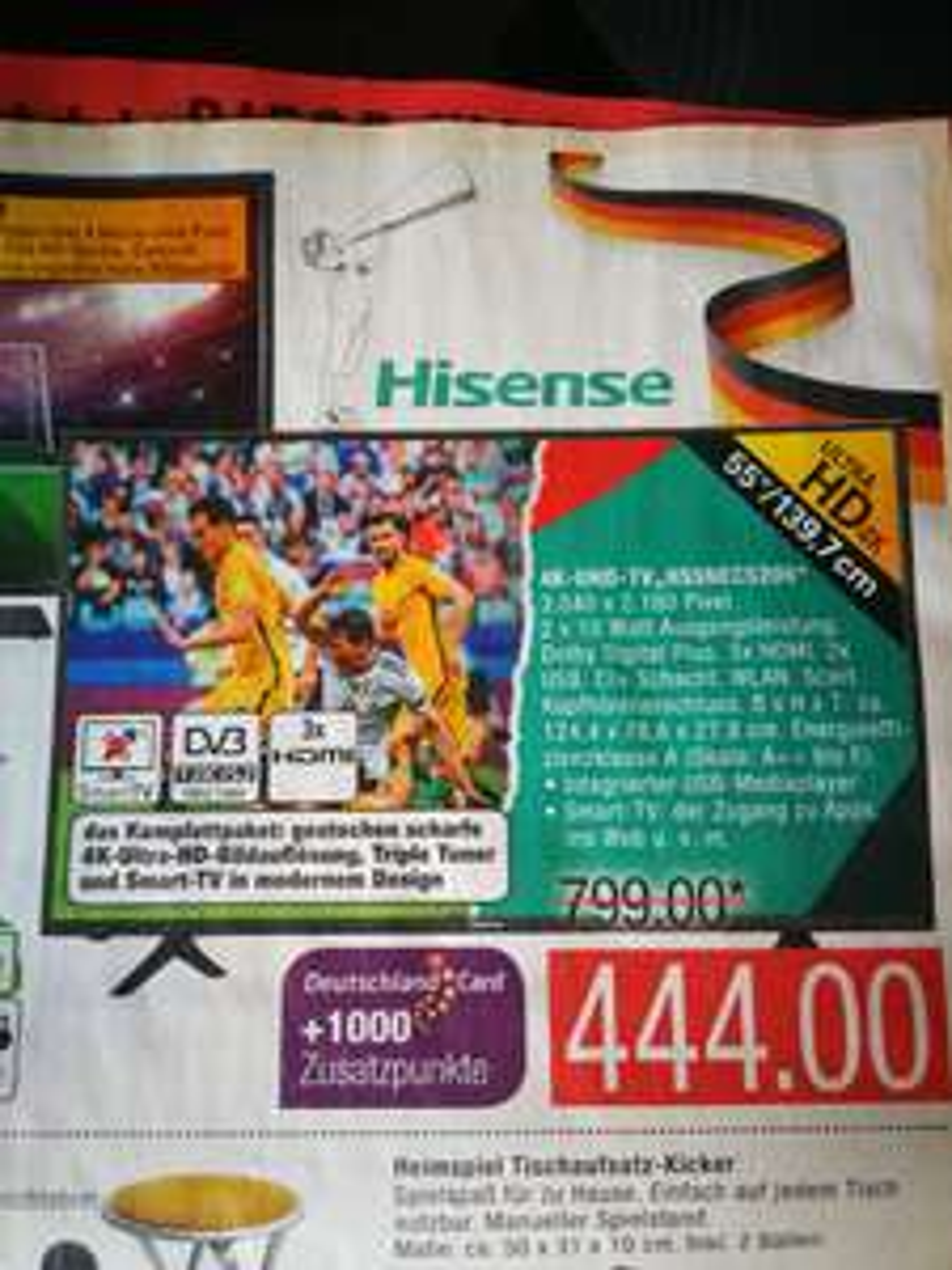 Hisense H55NEC5205 für 444€ bei Marktkauf