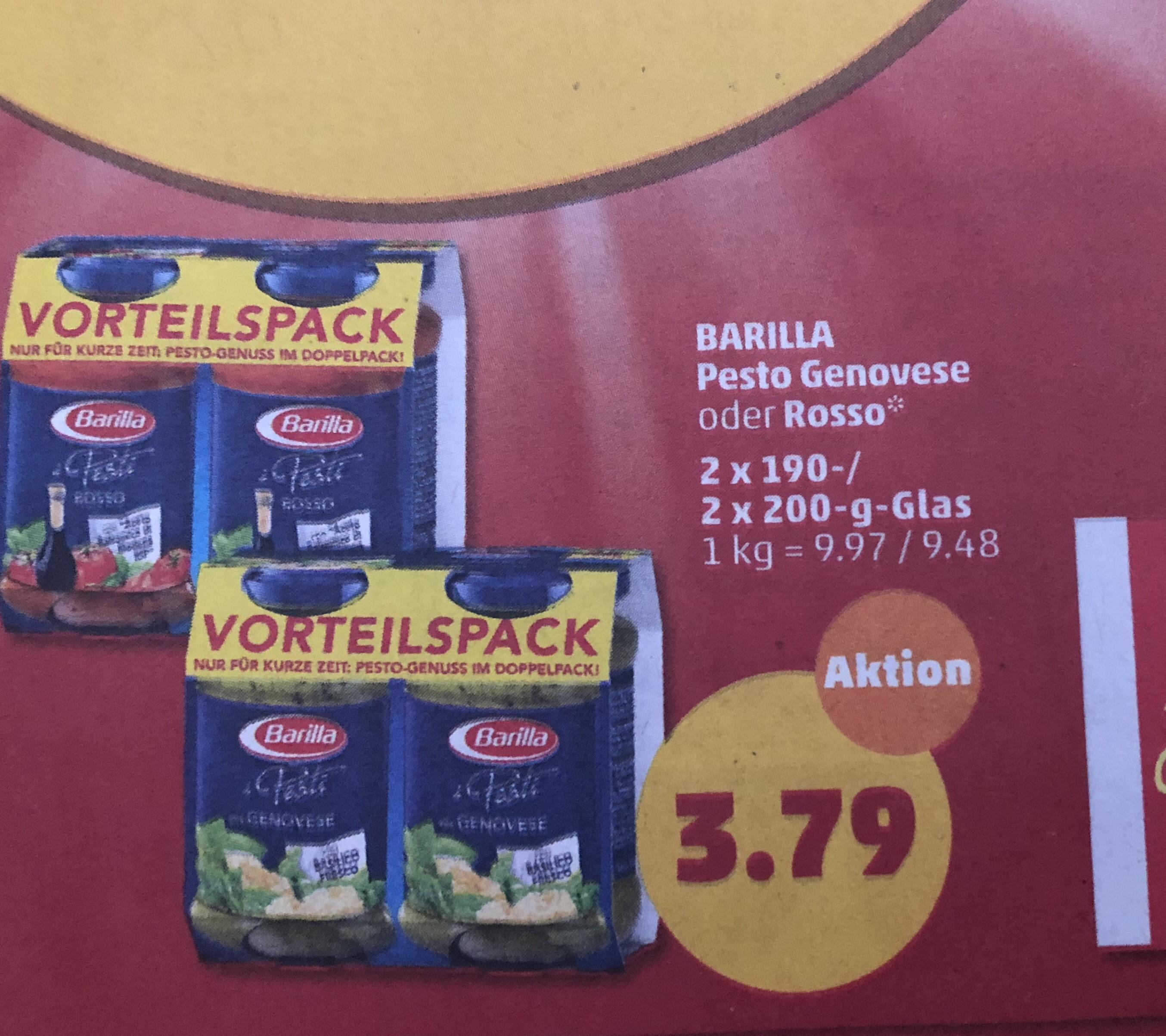Penny barilla pesto doppelpack für 3.79€ offline