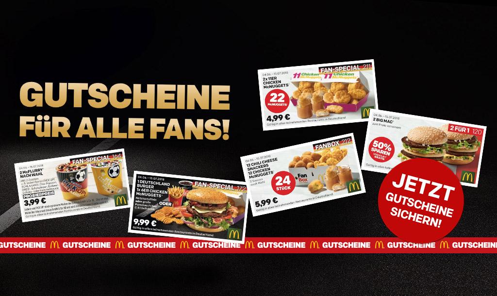 3€ Gutschein für Lieferbestellung bei McDonalds vom. 4.6. - 15.7.2018