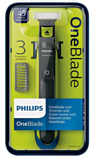 [Rossmann] 7,50€ Rabatt auf Philips OneBlade QP2520/20