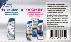 Neuer Head & Shoulders (alle Varianten) 500ml + Gratis H&S Supreme-/ Man Ultra-Produkt Coupon [GLOBUS] 04.06.-09.06.18