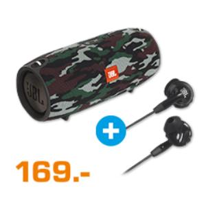 JBL Xtreme Special Edition Bluetooth Lautsprecher + JBL Inspire 500 In-Ear Bluetooth Kopfhörer für 169€ (Saturn)