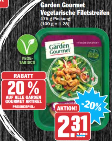 [HIT/AEZ] Garden Gourmet vegetarische Fleischalternativen 175g für nur 0,73€/0,81€ statt 2,99€