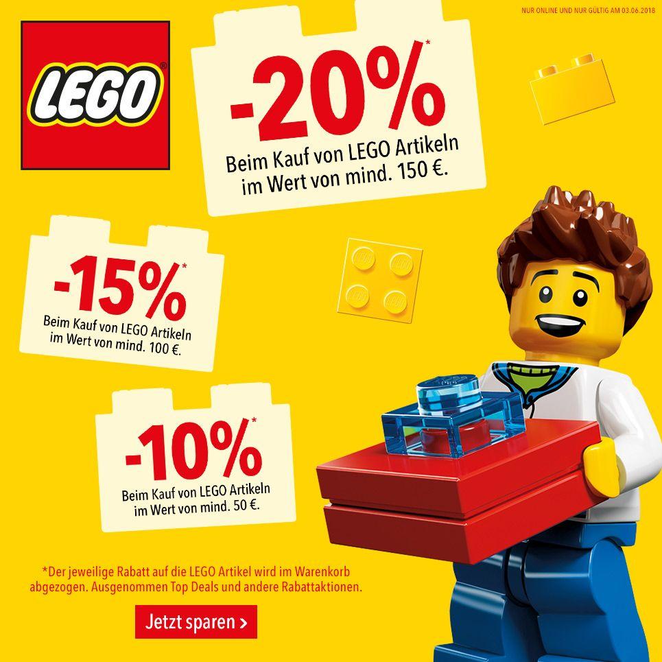 Bis zu 20% auf LEGO (z.B. 70620 Ninjago City für 239.99€)