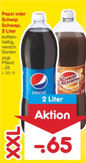 [Netto] Pepsi oder Schwip Schwap 2l für 0,65€ am 09.06