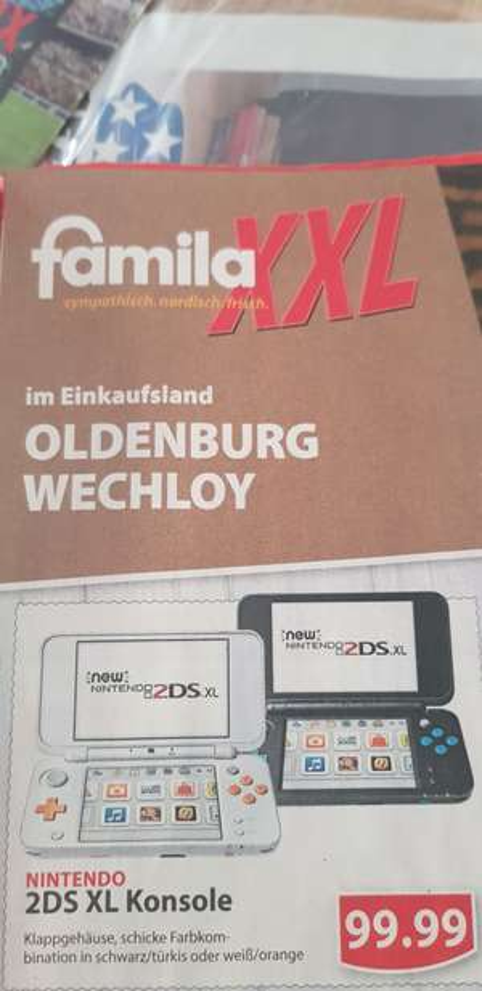 Lokal Oldenburg Wechloy Nintendo 2DS XL Famila XXL