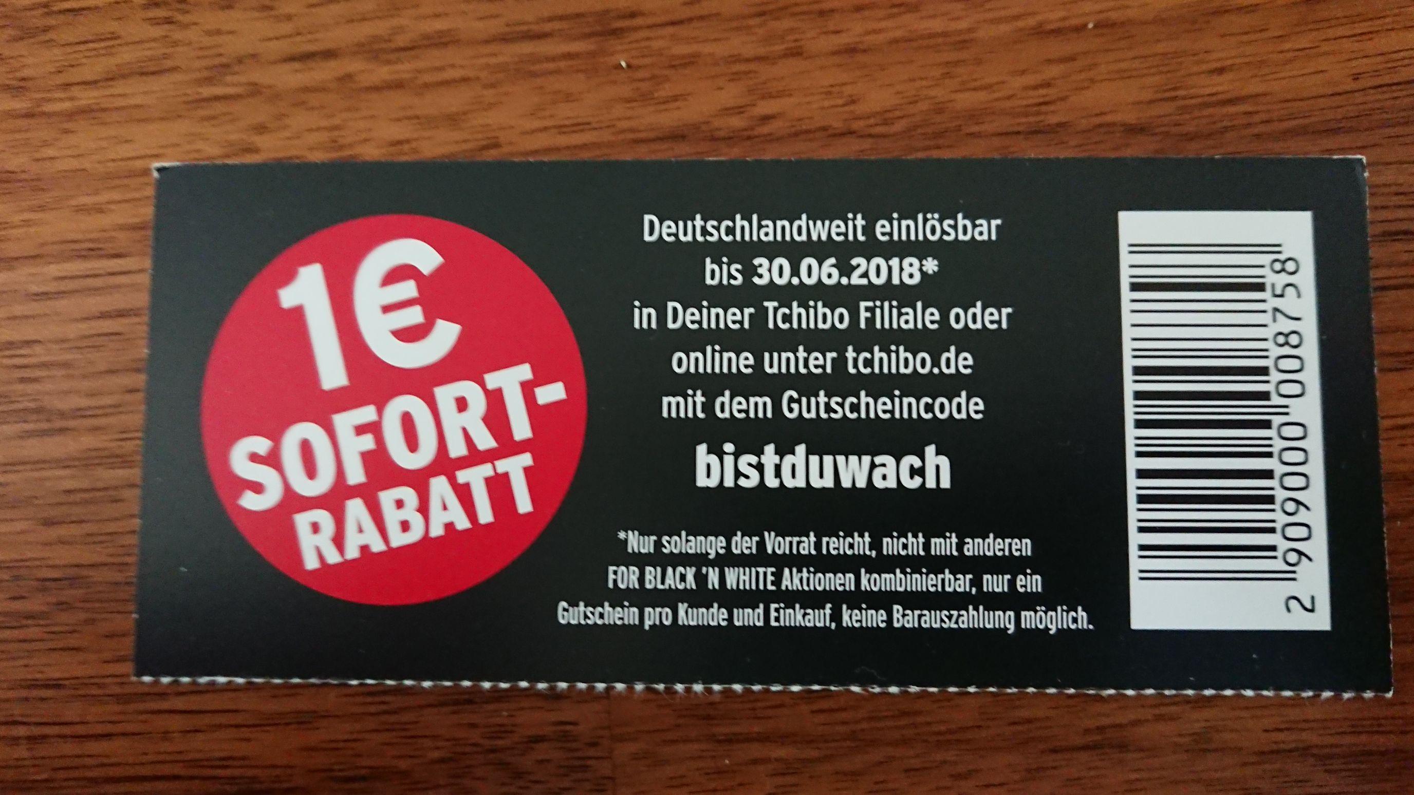 Tchibo 1€ Sofortrabatt