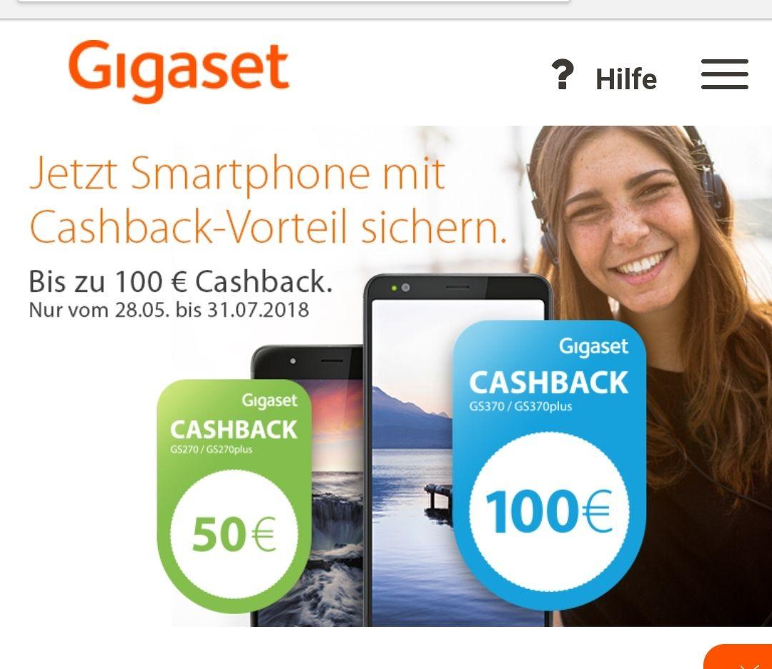 Cashback 50 € bzw. 100 € bei Gigaset für das GS 270 und 370