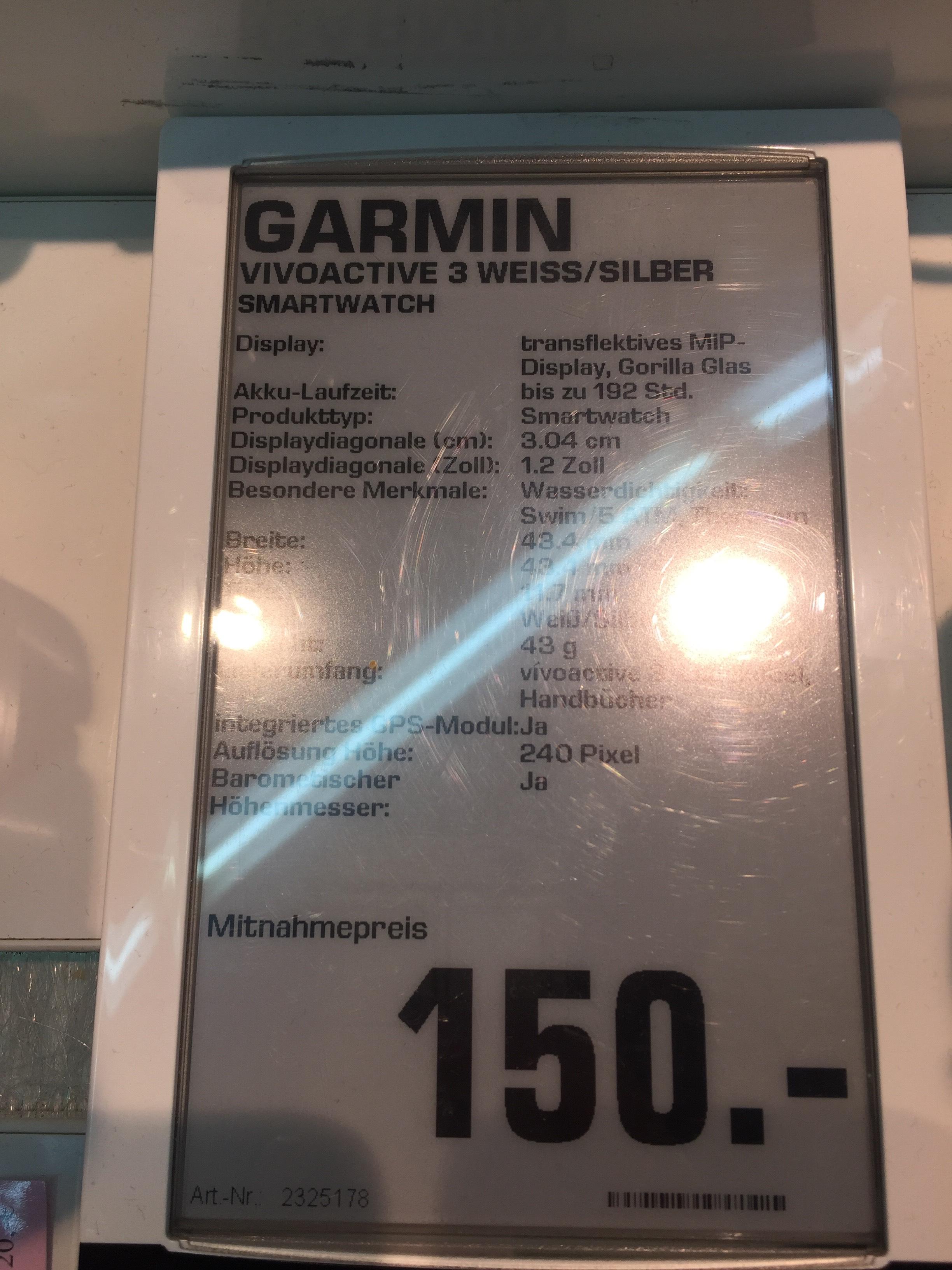 Lokal Saturn Osnabrück - GARMIN VIVOACTIVE 3