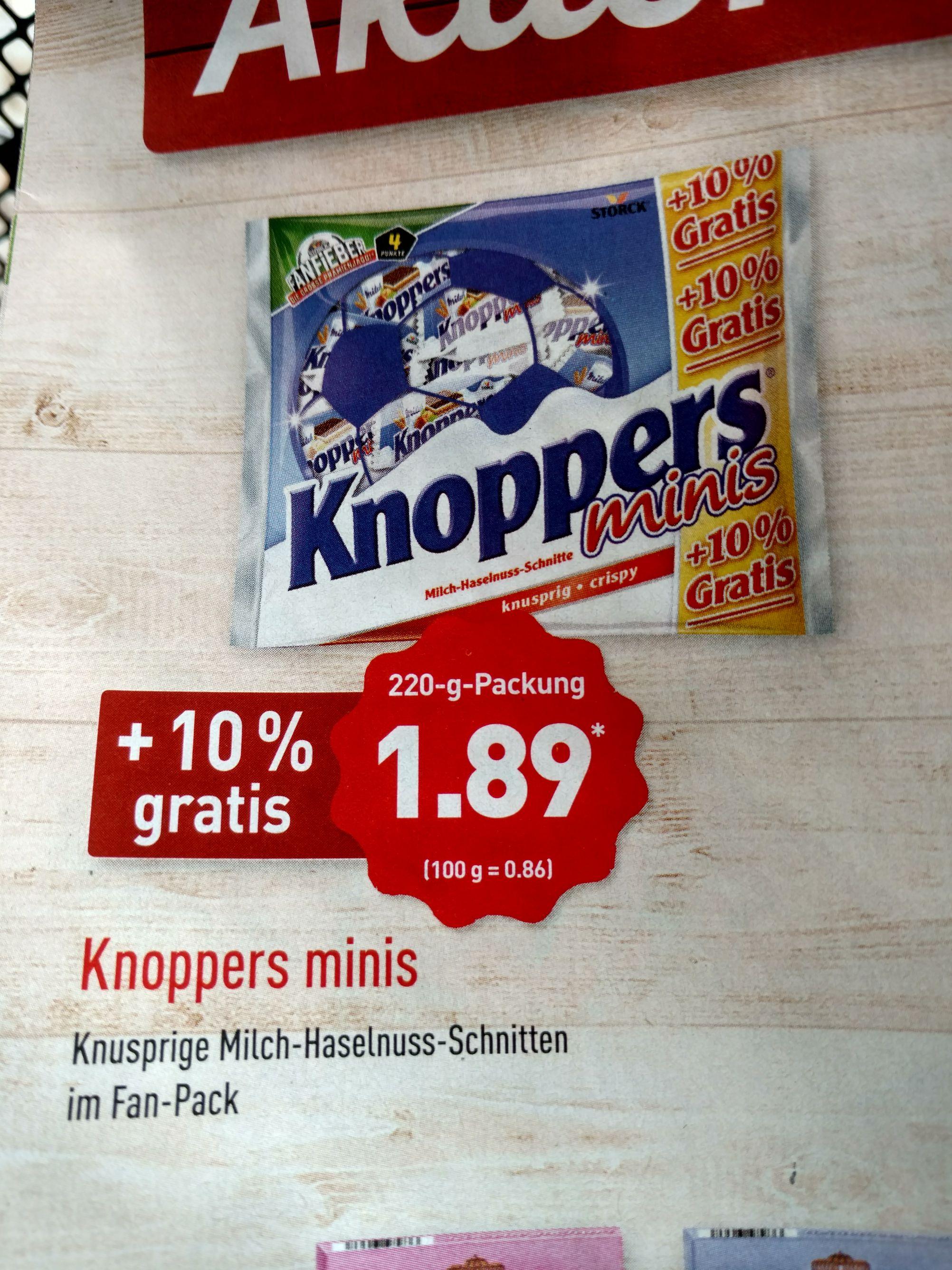Aldi Nord Knoppers Minis +10% gratis