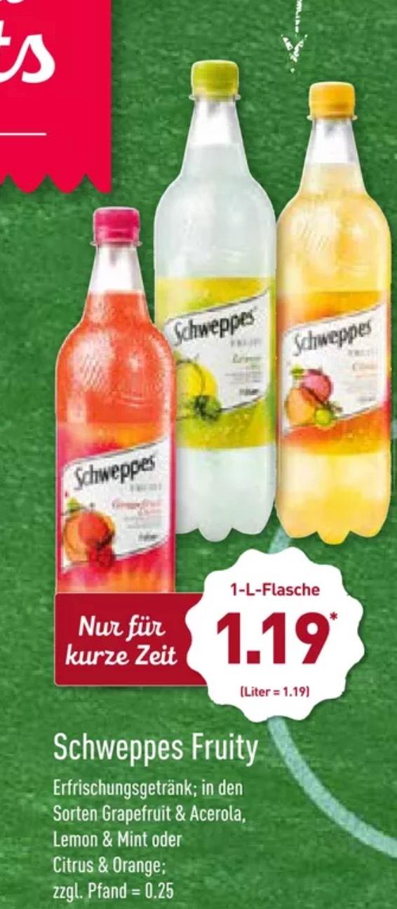 Schweppes Fruity 1l für 1,19€ || mit Coupies 0,69€ || [ab 15.06 Aldi Nord]