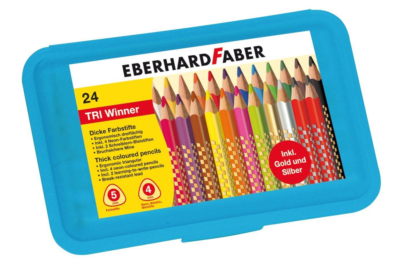 Eberhard Faber Buntstift Tri Winner, 24 Stück Kunststoffbox für 7,99€ (Müller)