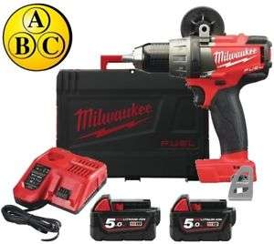 [ebay] Milwaukee Akku-Bohrschrauber M18FDD-502X, inkl. 2 x 5,0Ah Akkus + Ladegerät + Koffer ++++ 135 Nm Dehmoment ++++