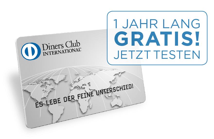 Diners Kreditkarte 1 Jahr kostenlos