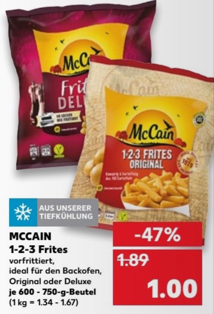 McCain Pommes Frites Original oder Deluxe für 1€ [ab 07.06 Kaufland]