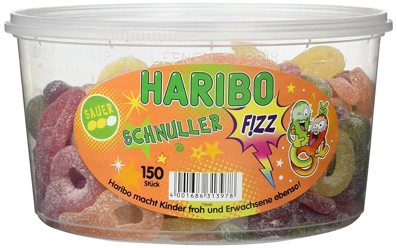 Amazon-Prime (Plus-Produkt) HARIBO Saure Schnuller 150 St in Runddose, 1er Pack (1 x 1.2 kg)