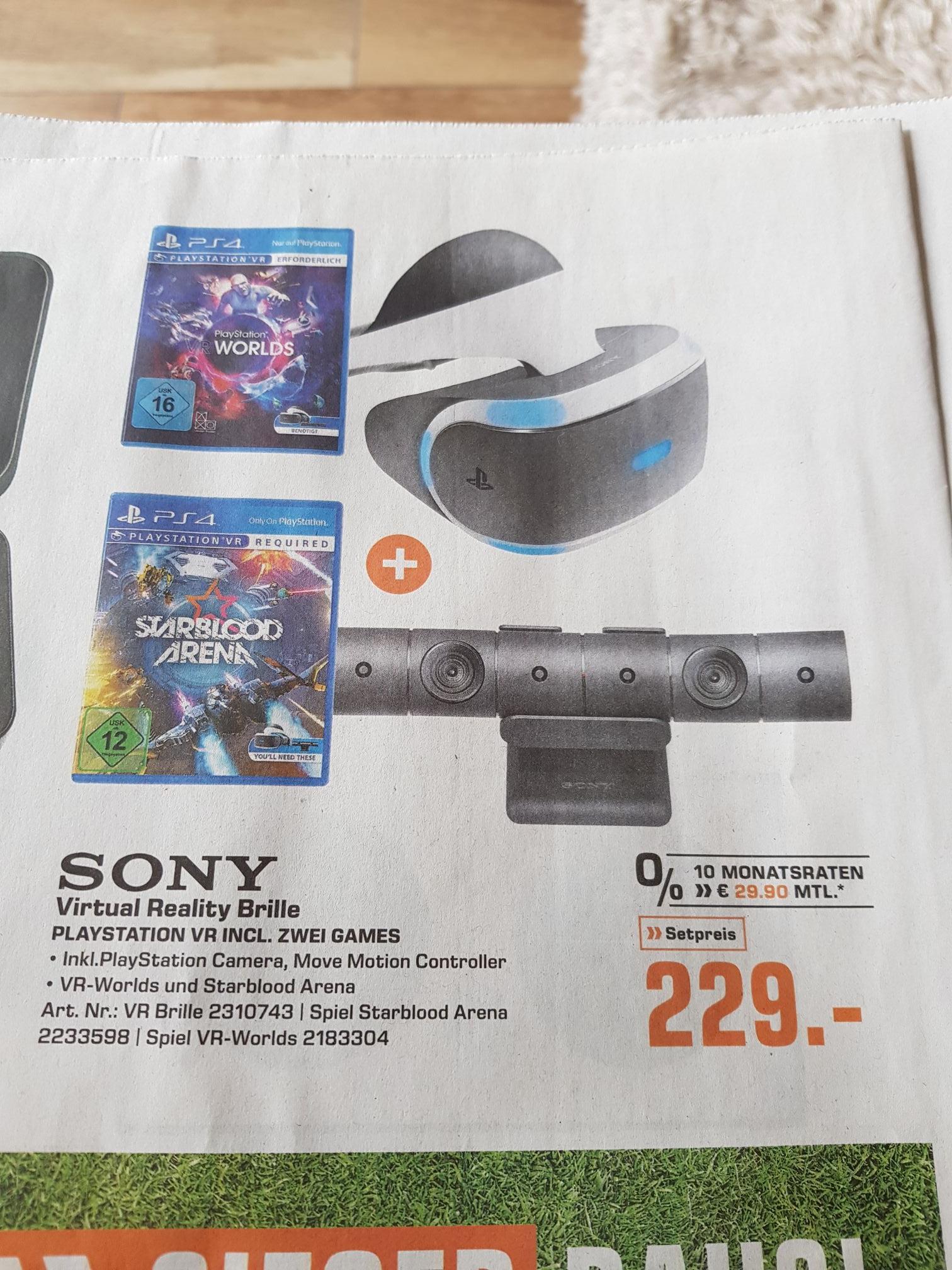 Playstation VR Brille mit Camera und 2 Spielen lokal Bremen Saturn