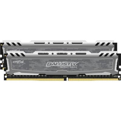 [NBB] 8GB (2x4GB) Ballistix Sport LT DDR4-2400 CL16 UDIMM 288pin Kit Grau