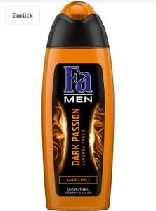 (Amazon) Fa Duschgel Men Dark Passion Sensual Fresh, 6er Pack (6 x 250 ml) im Spar-Abo