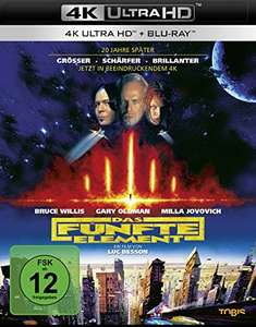 Das fünfte Element (4K Ultra HD+ Blu-ray 2D) für 19,97 EUR (Amazon Prime)