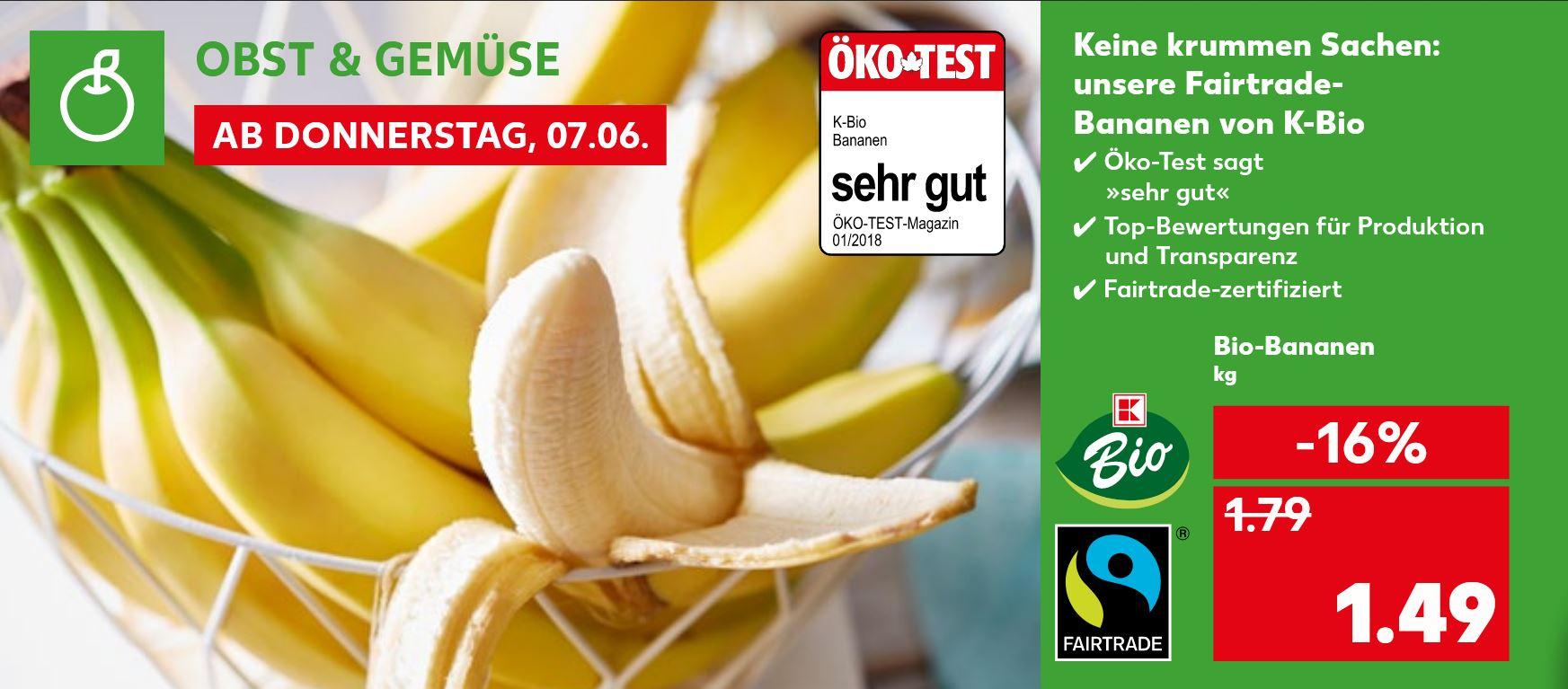 [Kaufland] Bio & Fairtrade Bananen - Ab 07.06.