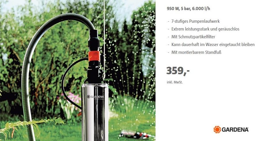Gardena Premium Tiefbrunnenpumpe 6000/5 Inox durch TPG zum Tiefstpreis inkl. 5 Jahre Garantie