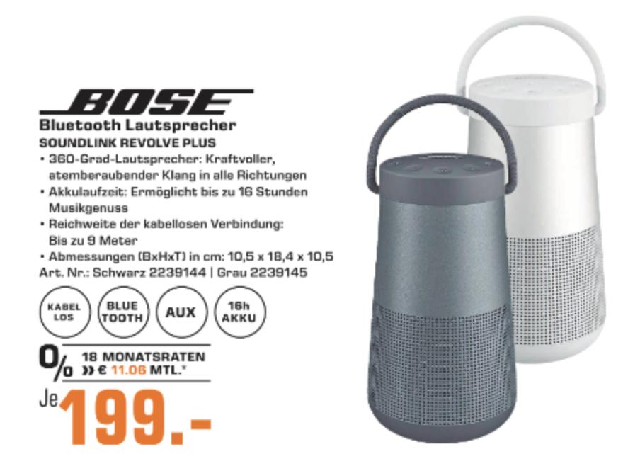(LOKAL) Bose Soundlink Revolve Plus (Saturn Bremen)