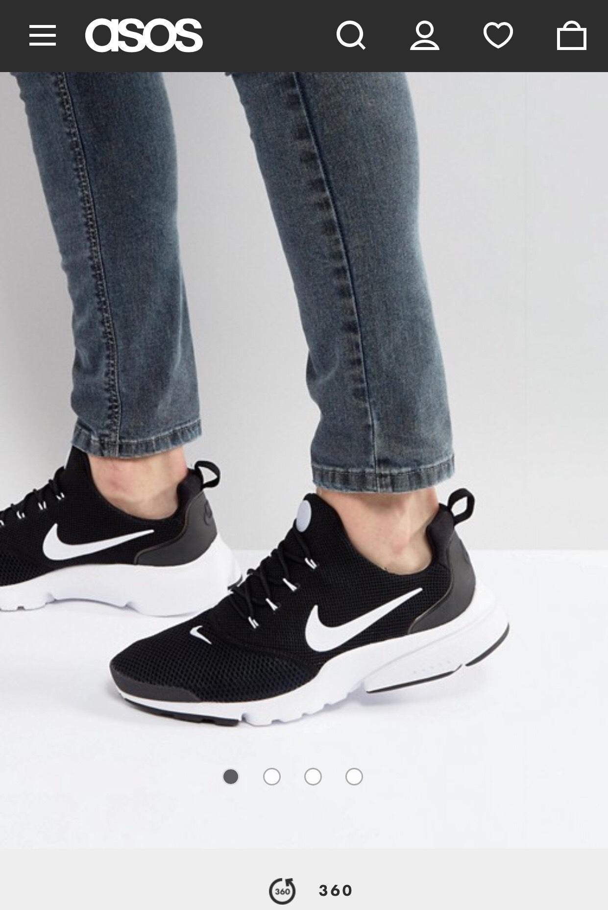 Nike – Presto Fly – Schwarze Sneaker