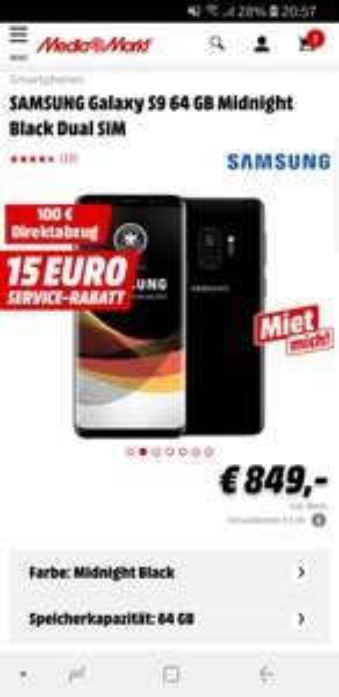 Galaxy S9 + SanDisk 200 GB Speicher Karte und UE Megaboom