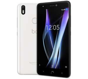 "BQ Aquaris X Pro 32 GB in schwarz - 5.2"" Full HD Smartphone (1920x1080, 3GB RAM, 12//8MP, 802.11ac, NFC, Dual-SIM, IP52, Quick Charge 3.0, Android 8) [nbb]"