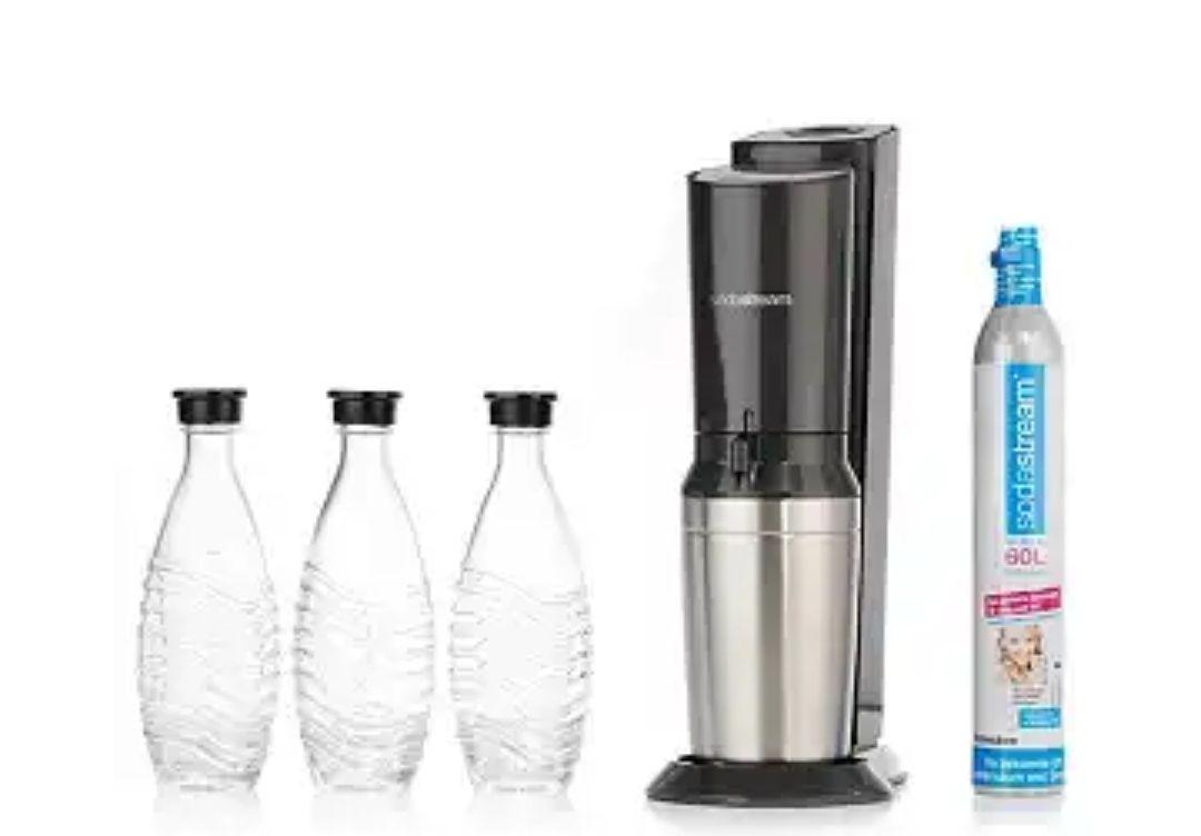 Sodastream Crystal 2.0 Titan inkl. 3 Karaffen und Zylinder