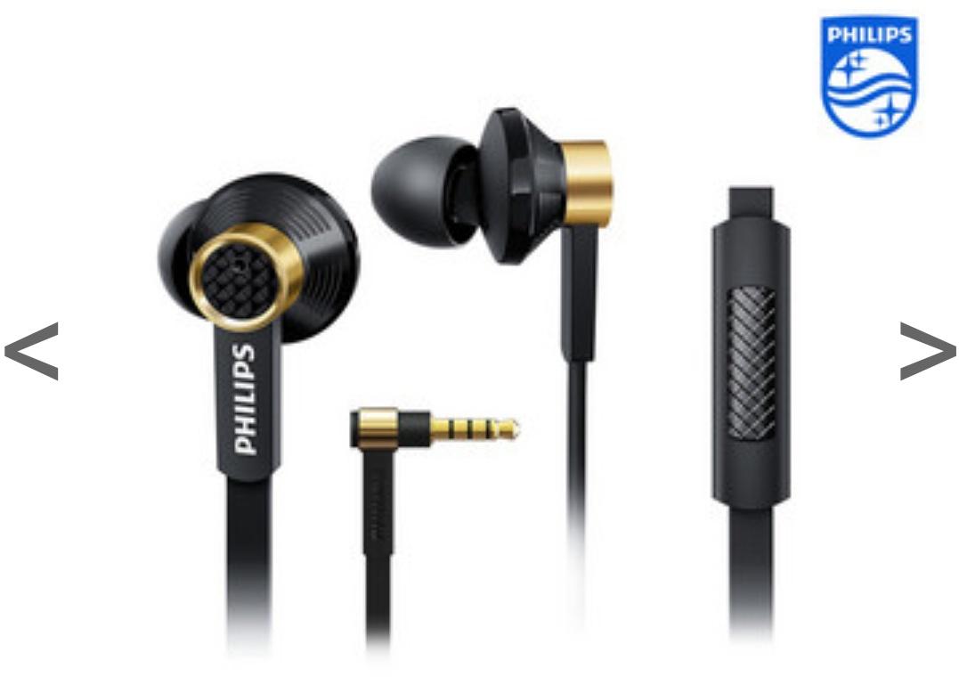 2 x Philips SHX20 Kopfhörer (In-Ear inkl. Mikrofon und Fernbedienung)