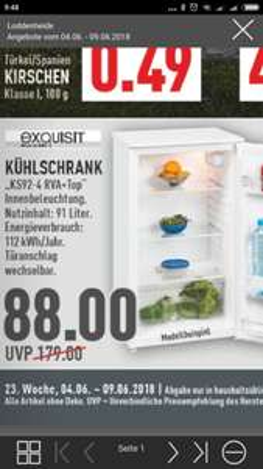 Getränke Kühlschrank zur WM Marktkauf