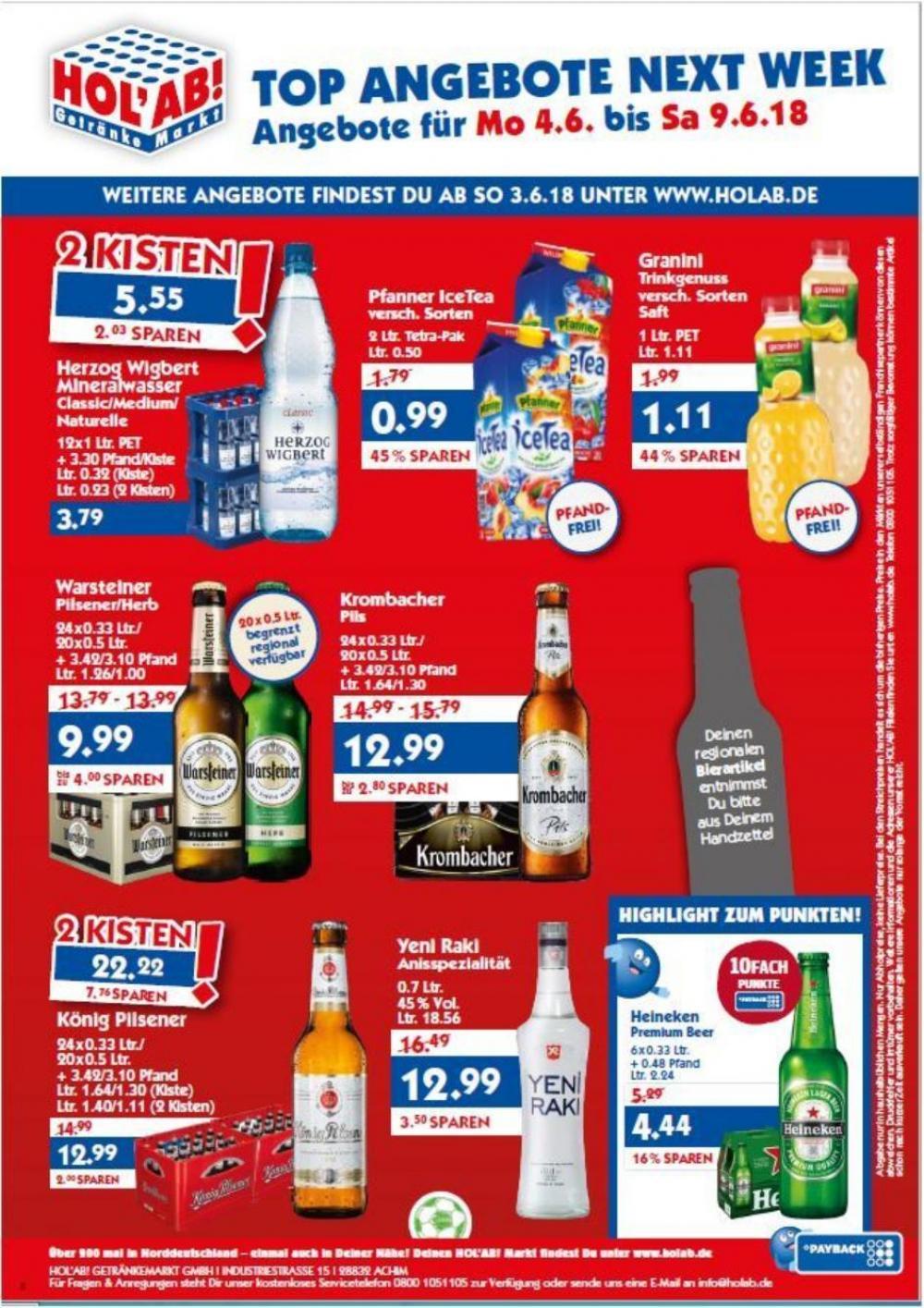 Pfanner Eistee 2l verschiede Sorten für 99ct [Hol ab!]
