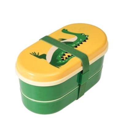 20% Rabatt auf To-Go-Produkte + 5€-Newsletter-Gutschein bei pinkmilk, z.B. Rex International, Bento-Box Krokodil in grün / gelb